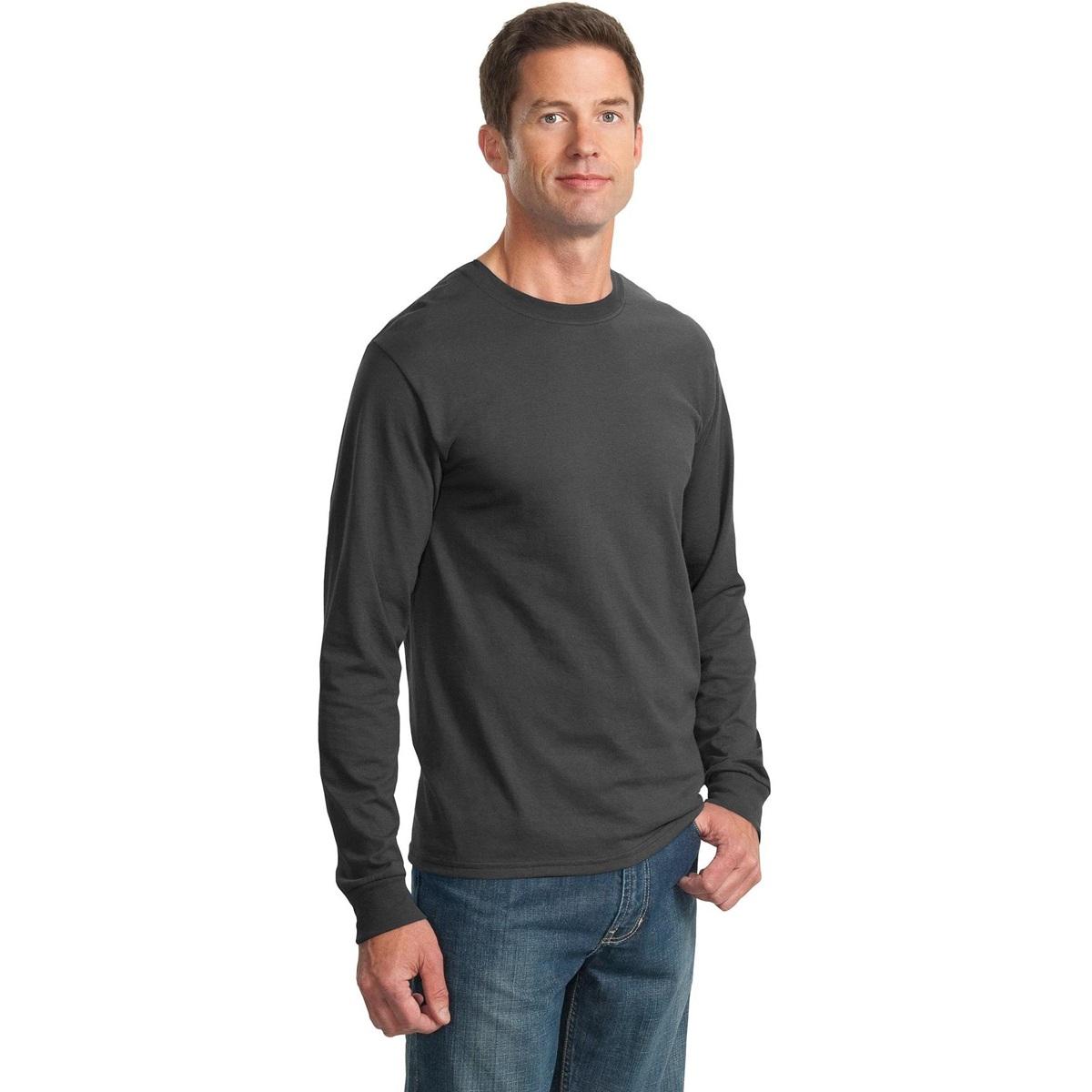 Jerzees 29ls heavyweight blend long sleeve t shirt for Grey long sleeve shirts