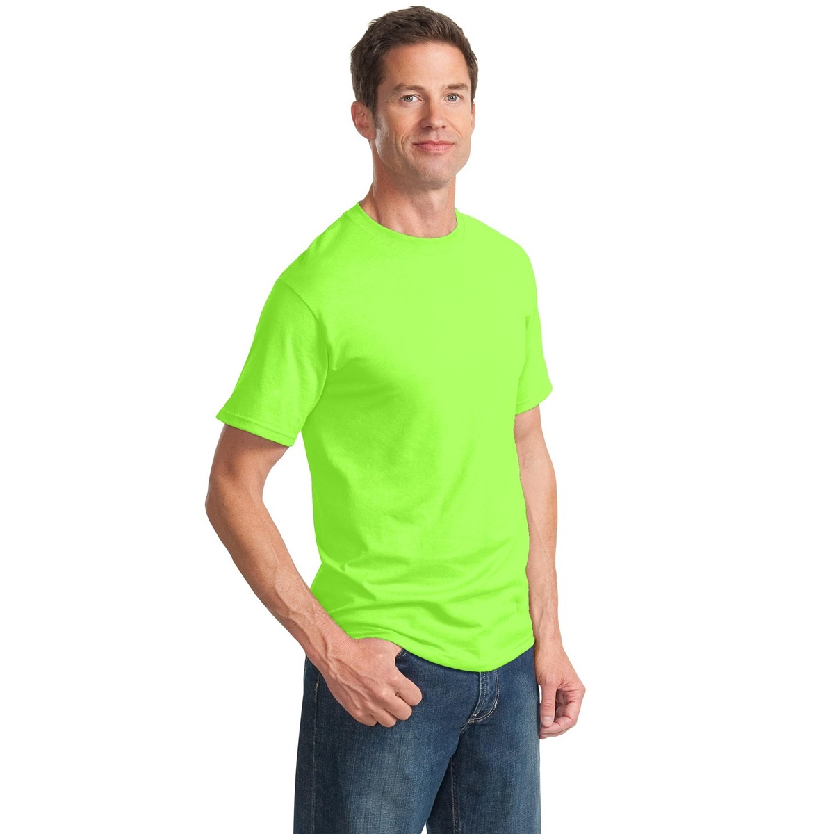 Jerzees 29m heavyweight blend 50 50 cotton poly t shirt for Bulk neon t shirts