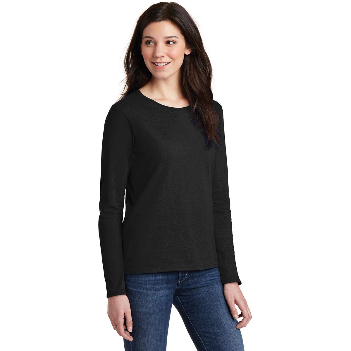 Gildan 5400l Ladies Heavy Cotton Long Sleeve T Shirt