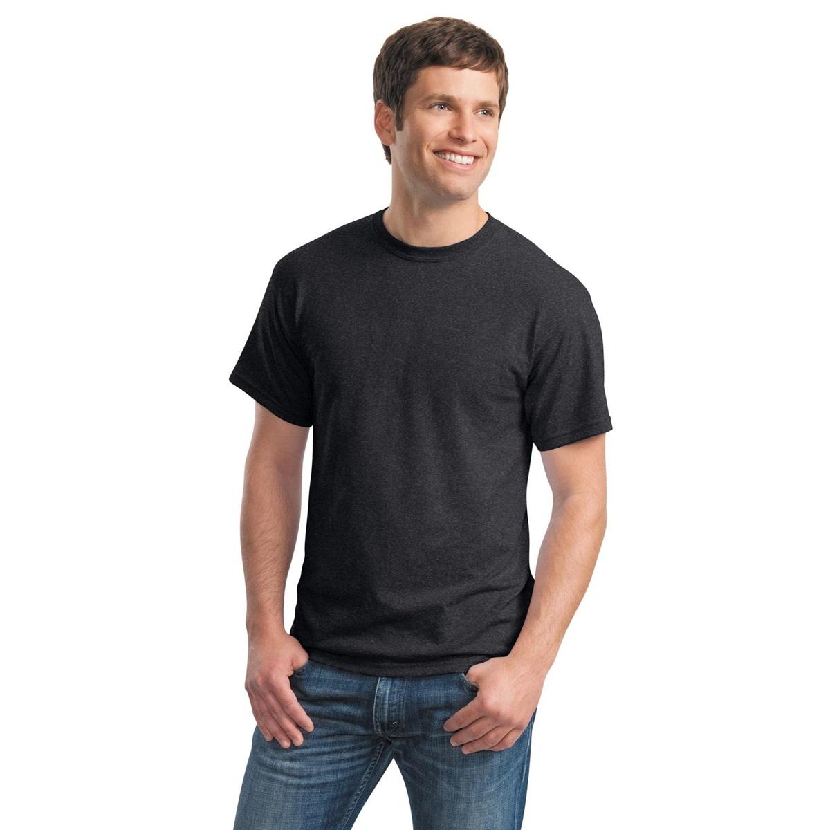 Gildan 8000 dryblend t shirt dark heather for Gildan 8000 t shirt