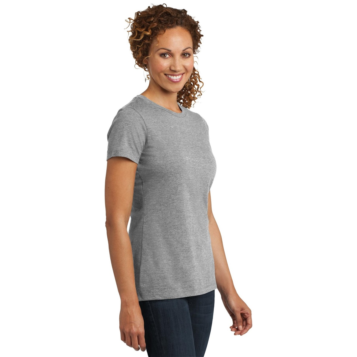 District Made DM108L Ladies Perfect Blend Crew Tee - Light ...