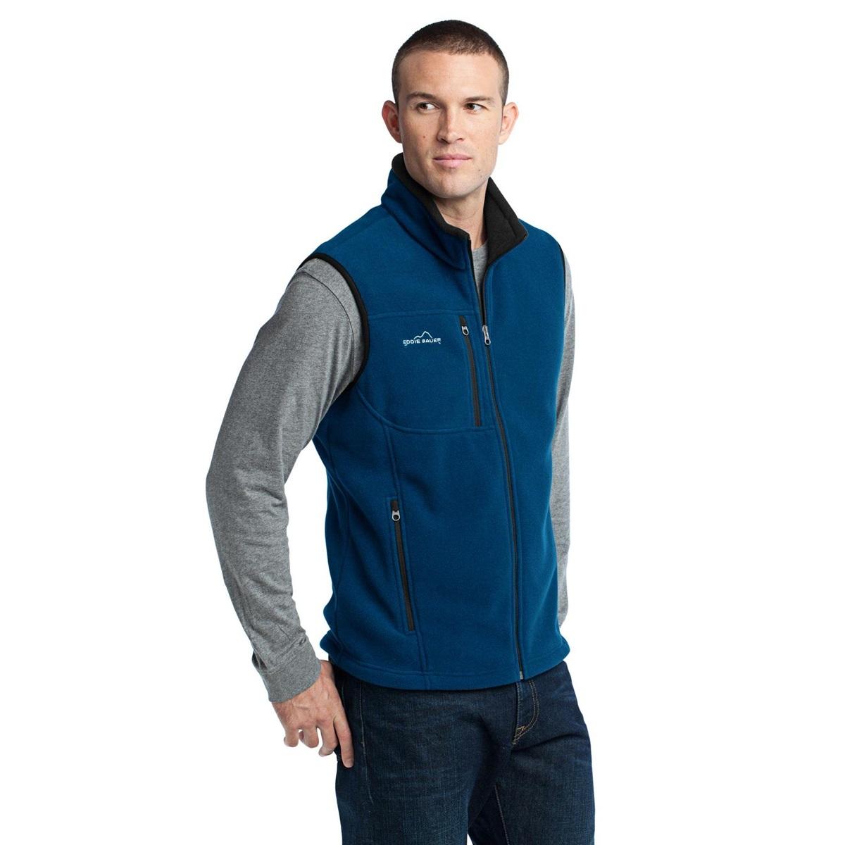 bauer eddie vest fleece sea deep crestline fullsource