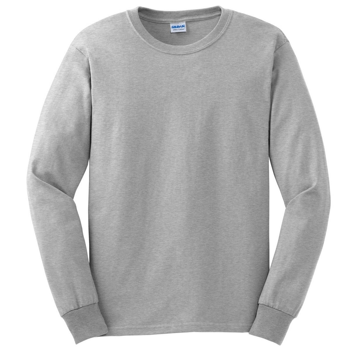 Gildan g2400 ultra cotton long sleeve t shirt ash for Grey long sleeve shirts
