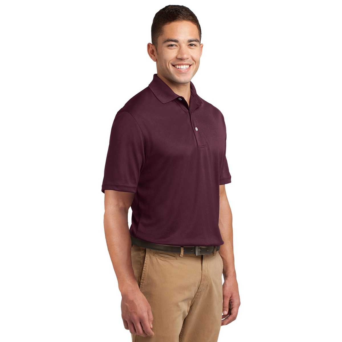 Sport tek k469 dri mesh polo shirt maroon for Maroon dri fit polo shirt