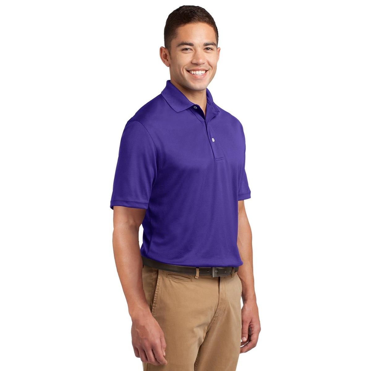 Sport tek k469 dri mesh polo shirt purple for Maroon dri fit polo shirt