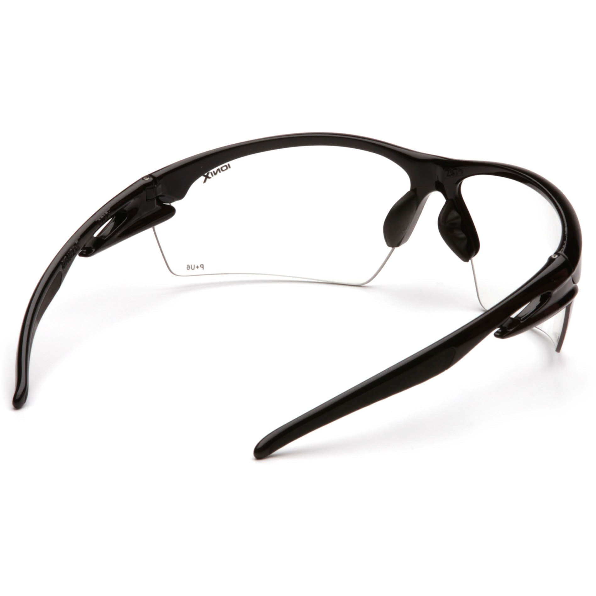 Black Frame Glasses With Clear Lenses : Pyramex Ionix Safety Glasses - Black Frame - Clear Lens ...
