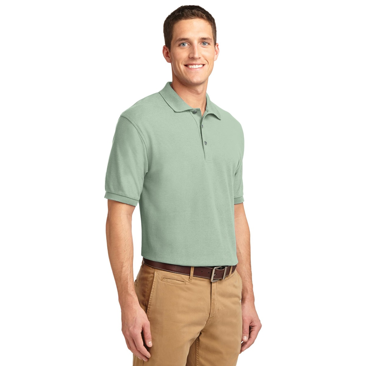 Port authority tlk500 tall silk touch polo mint green for Mint color polo shirt