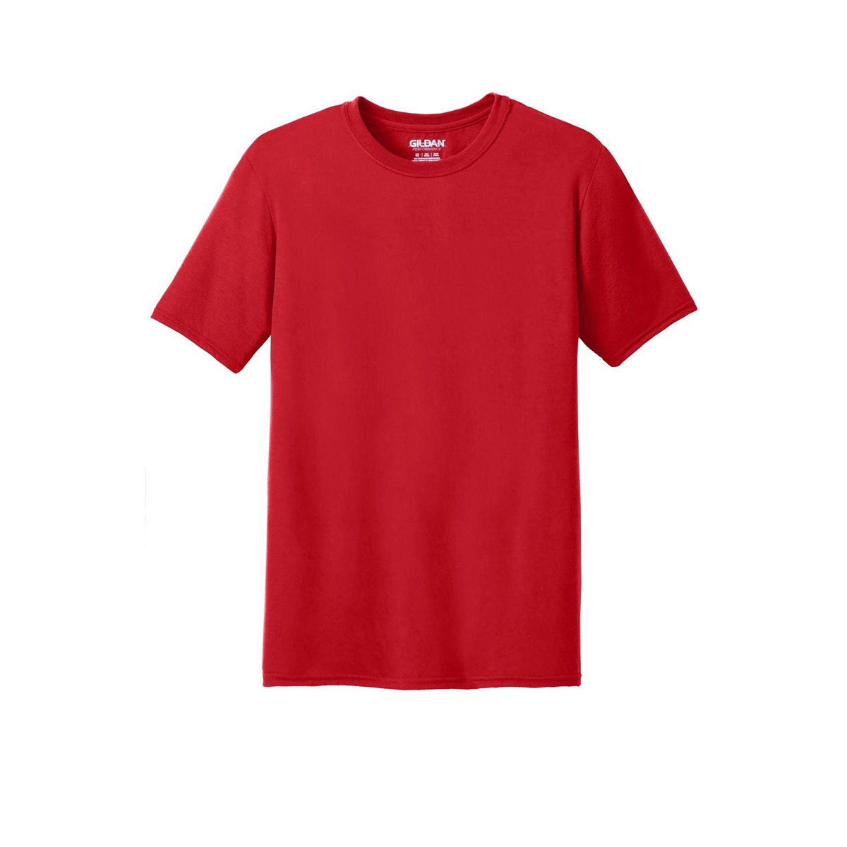 Gildan 42000 performance t shirt red for Where are gildan t shirts made