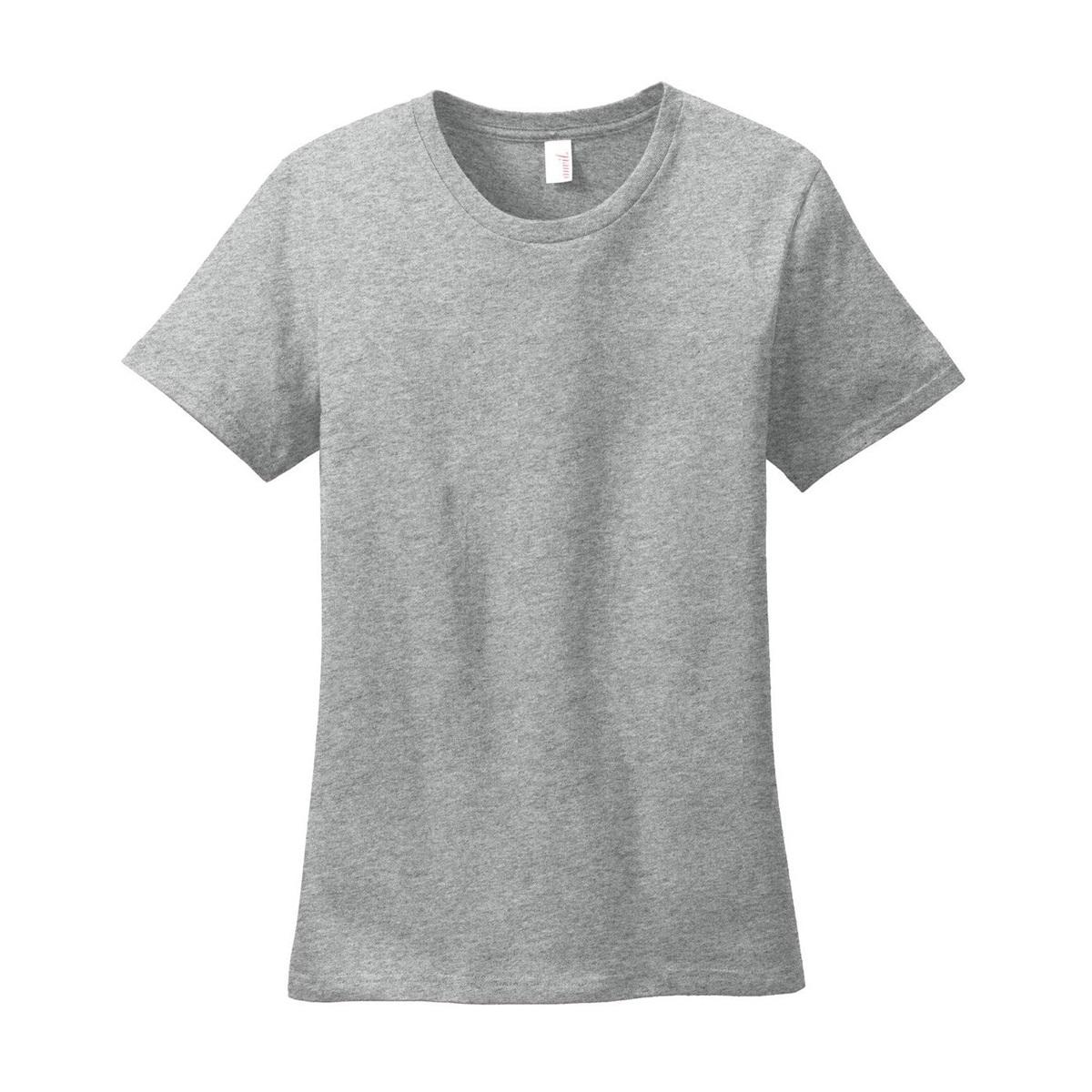 Anvil 880 Ladies Ring Spun Cotton T Shirt Heather Grey