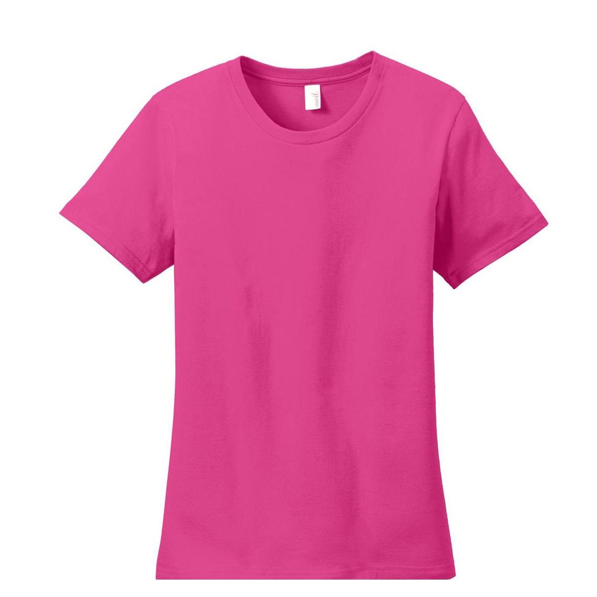 Anvil 880 ladies 100 ring spun cotton t shirt hot pink for 100 ringspun cotton t shirt wholesale