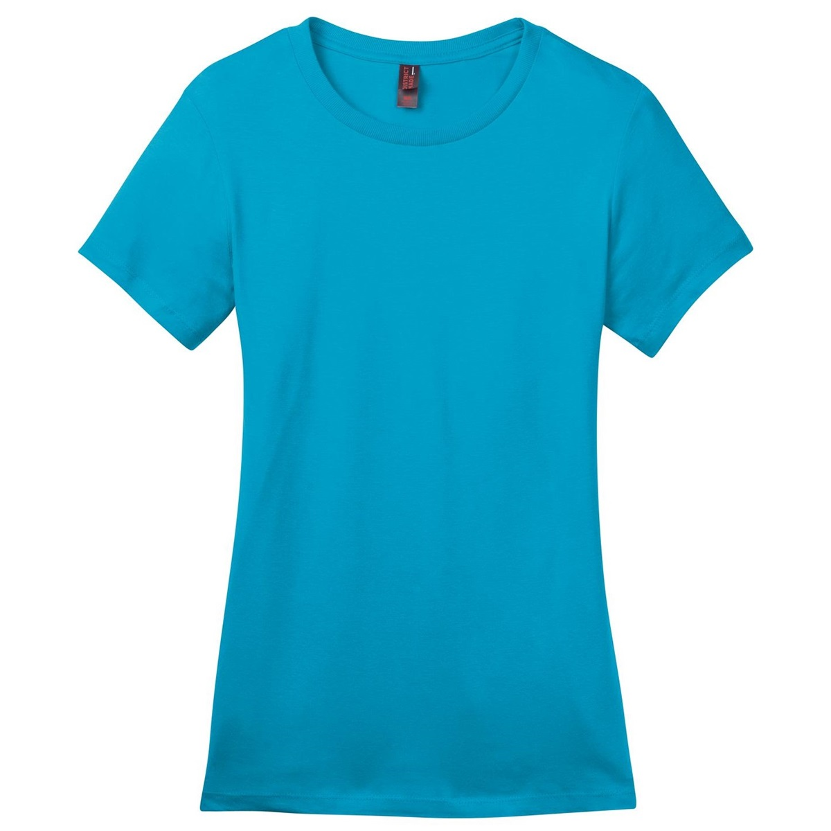 District made dm104l ladies perfect weight crew tee for Aqua blue color t shirt