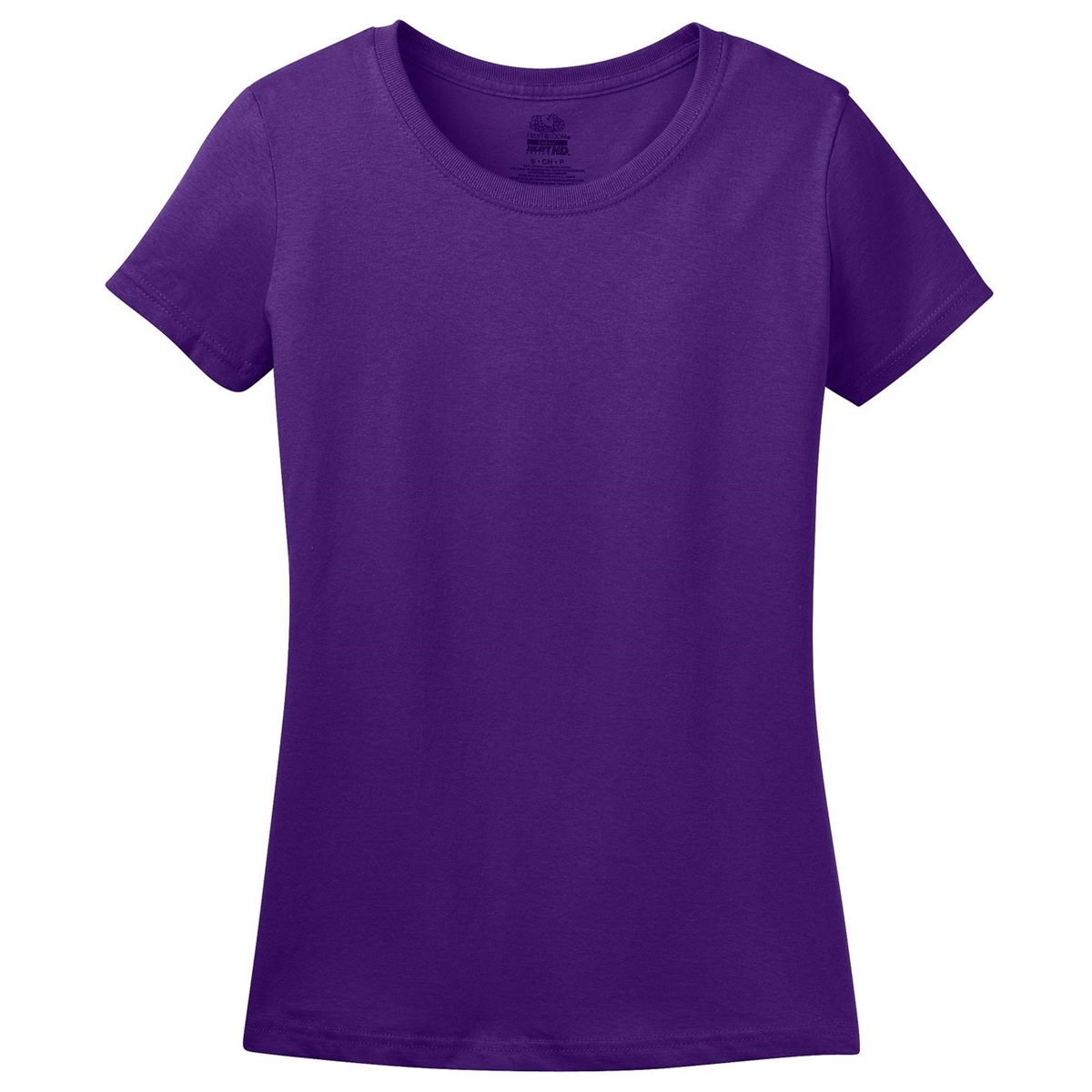 fruit of the loom l3930 ladies heavy cotton hd t shirt purple. Black Bedroom Furniture Sets. Home Design Ideas