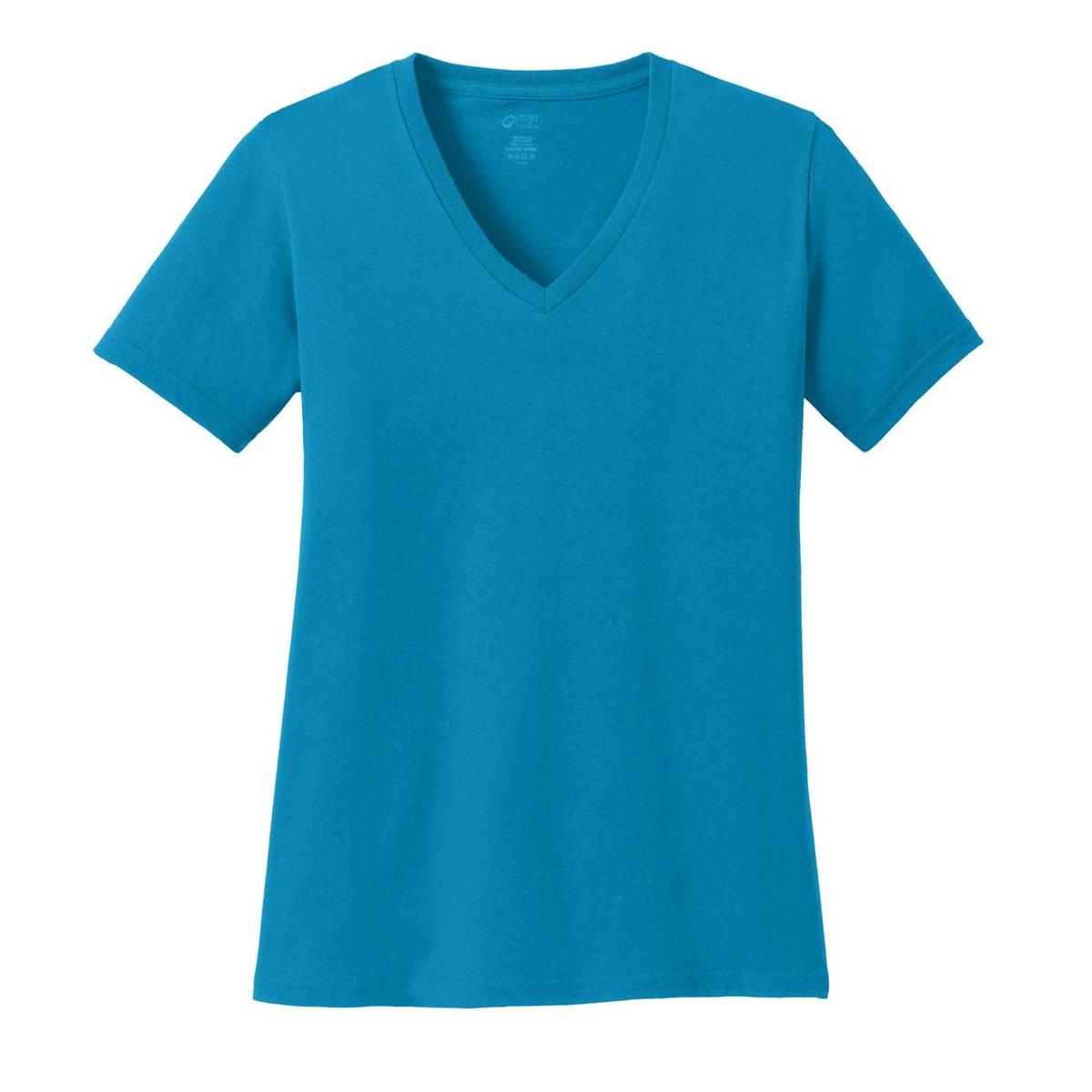 Port Company Lpc54v Ladies 5 4 Oz Cotton V Neck T Shirt