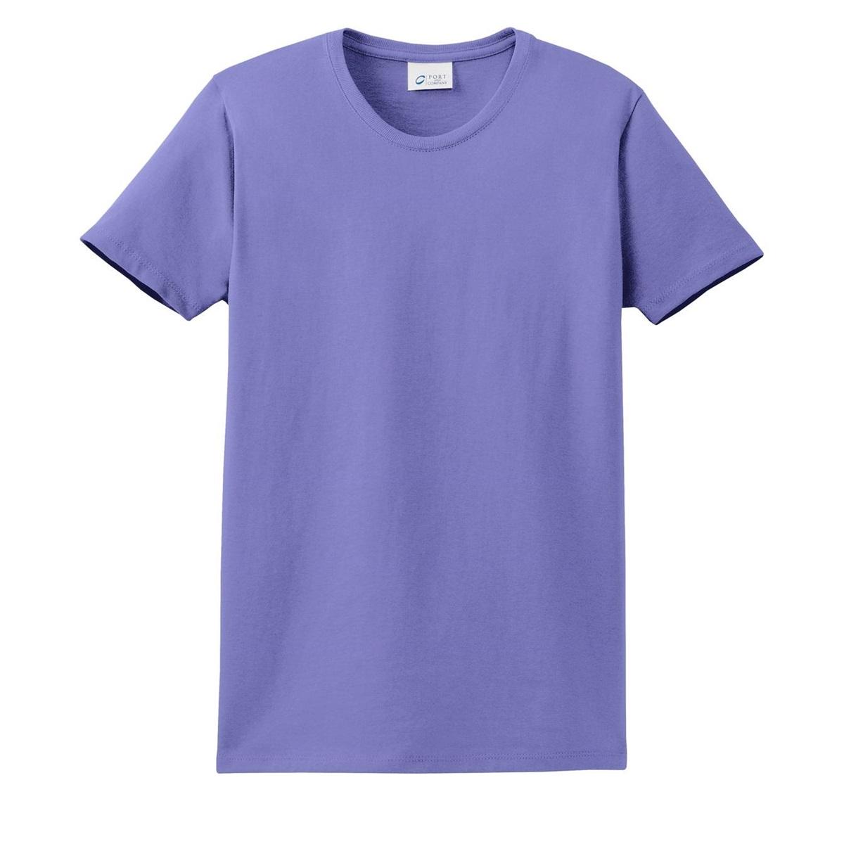 port company lpc61 ladies essential t shirt violet. Black Bedroom Furniture Sets. Home Design Ideas