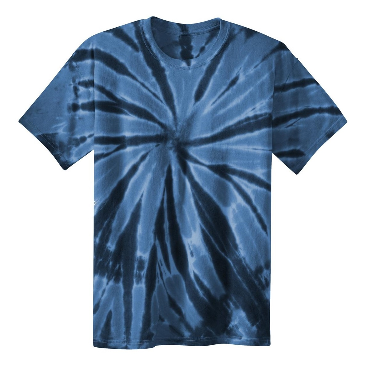 Port Company Pc147 Essential Tie Dyed Tee Navy