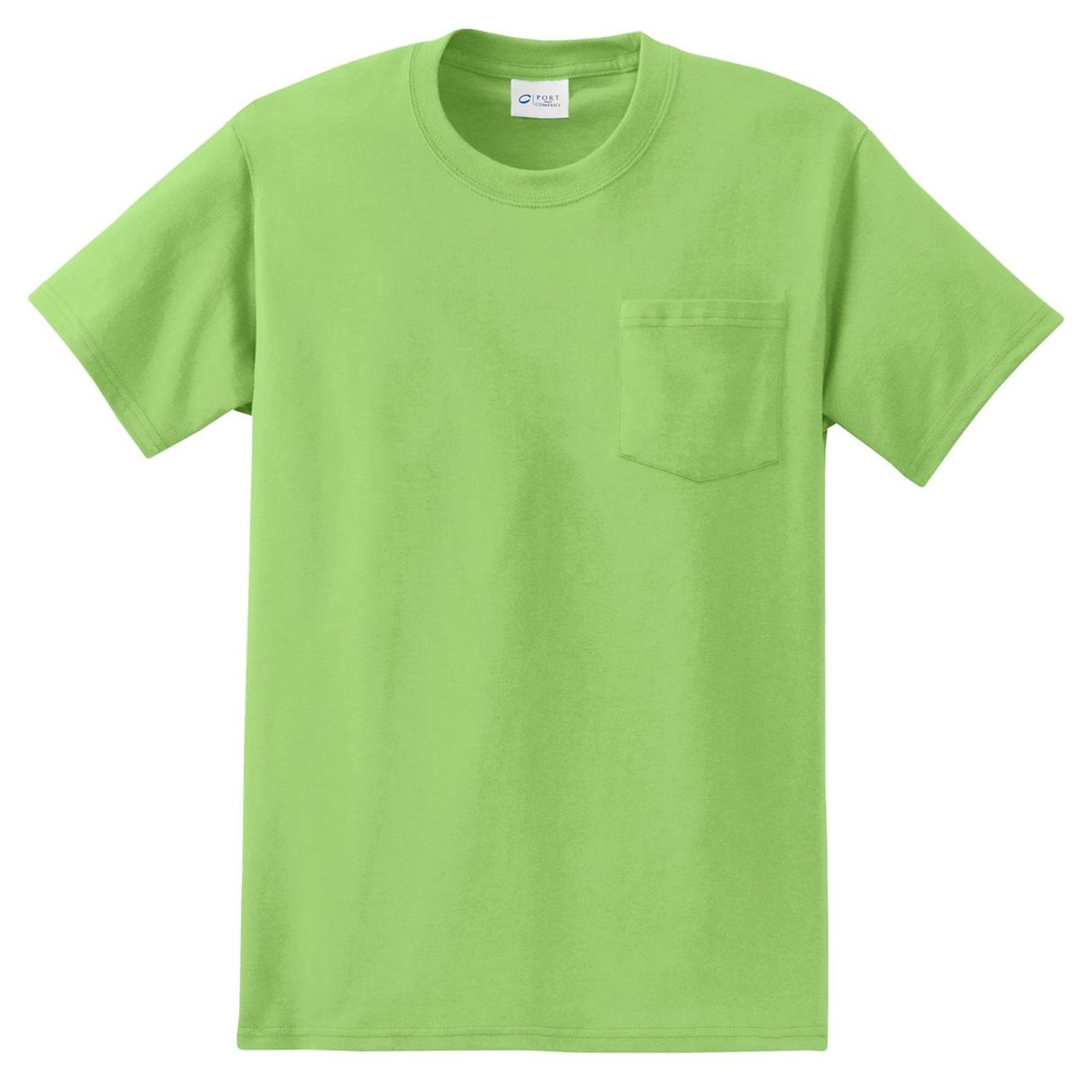 Port Company Pc61p Essential T Shirt With Pocket Lime