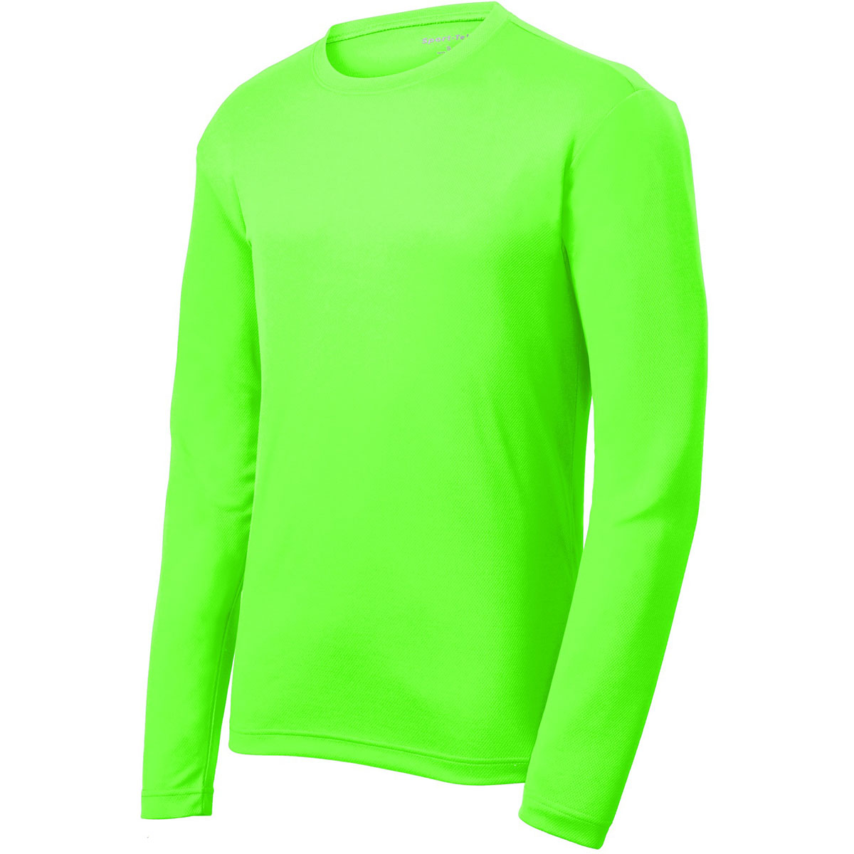 Sport tek st340ls posicharge racermesh long sleeve tee for Bulk neon t shirts