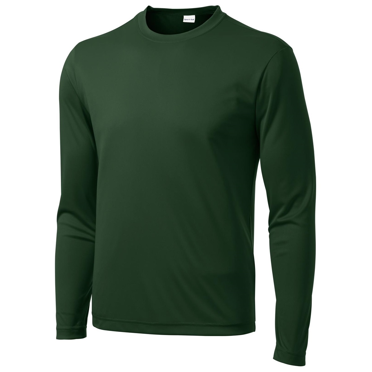 Sport tek st350ls long sleeve competitor tee forest for Long sleeve sports shirt