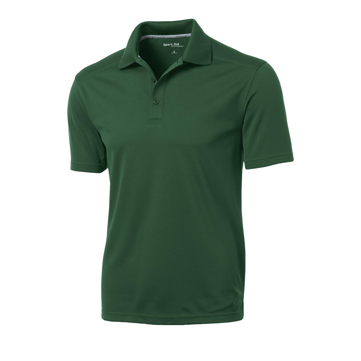 Sport tek st680 posicharge micro mesh polo forest green for Forest green polo shirts