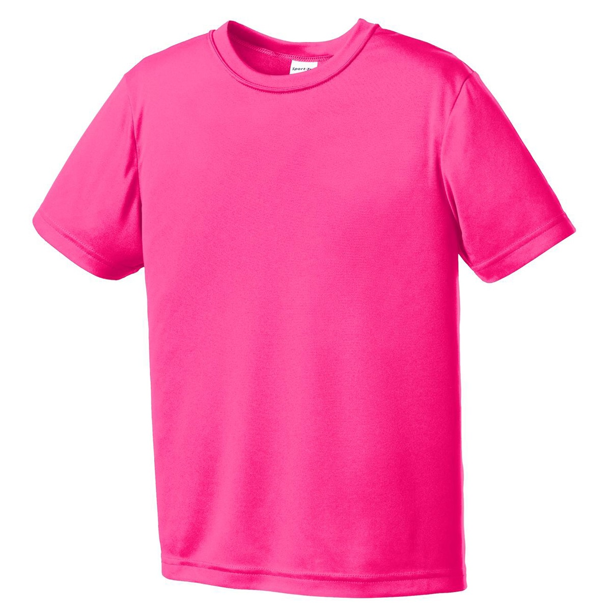 Sport Tek Yst350 Youth Competitor Tee Neon Pink