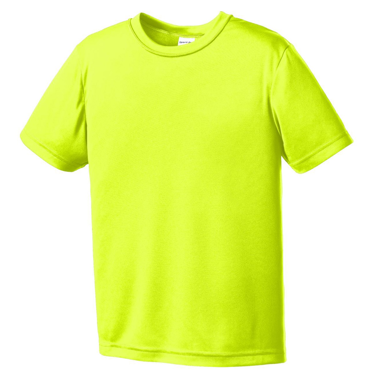 Sport Tek Yst350 Youth Competitor Tee Neon Yellow