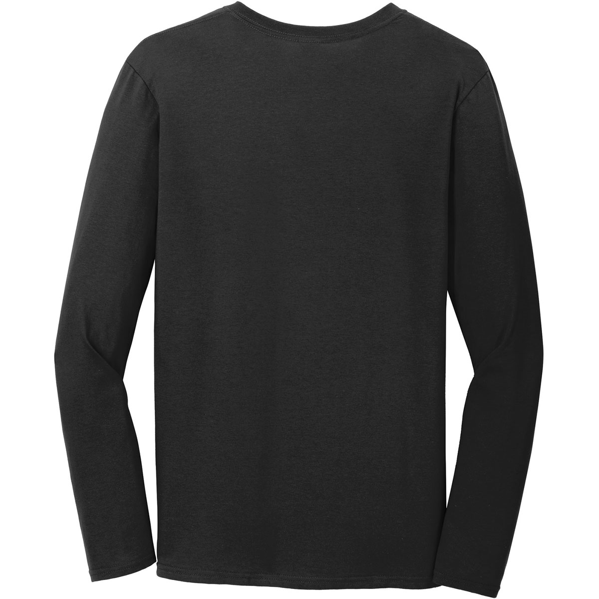 Gildan 64400 softstyle long sleeve t shirt black for Gildan brand t shirt size chart