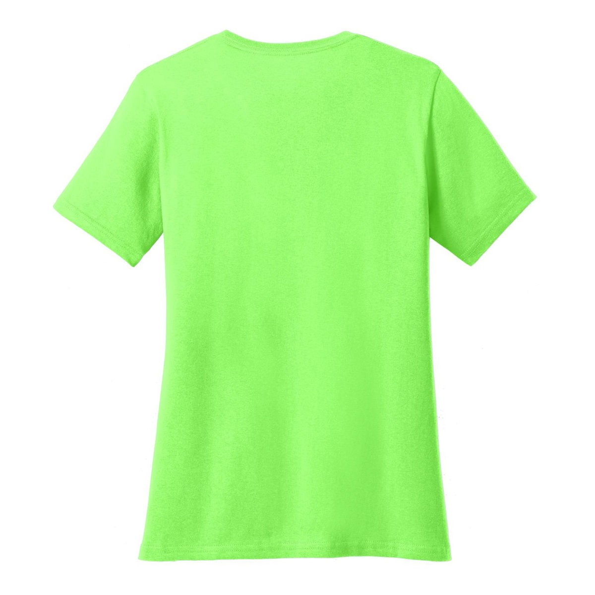 Port company lpc54v ladies 5 4 oz cotton v neck t shirt for Bulk neon t shirts
