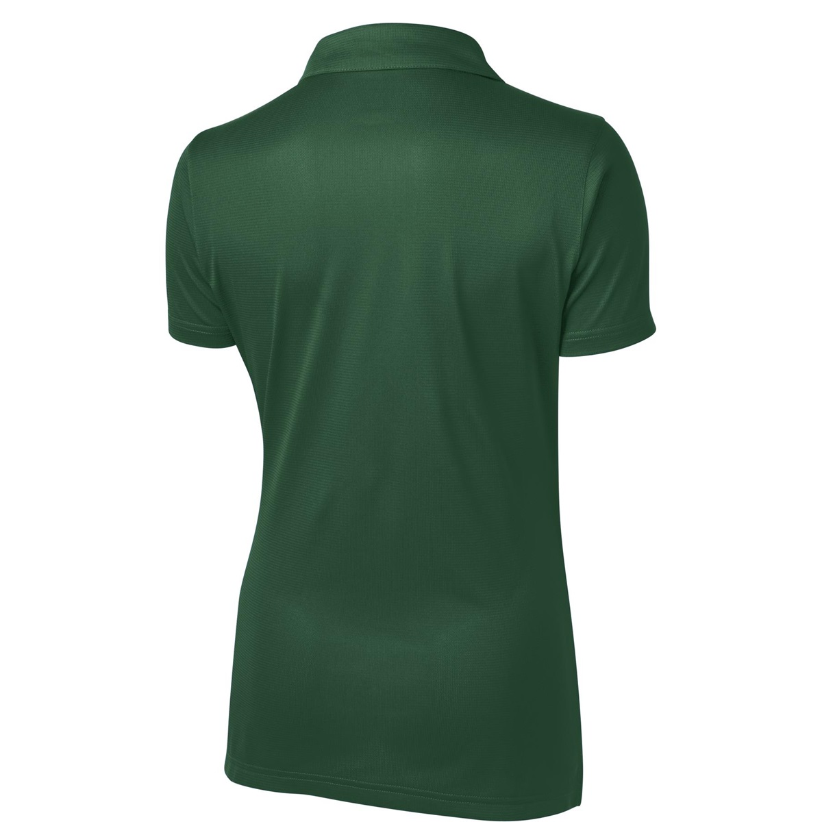 Sport tek lst690 ladies active textured polo shirt for Forest green polo shirts