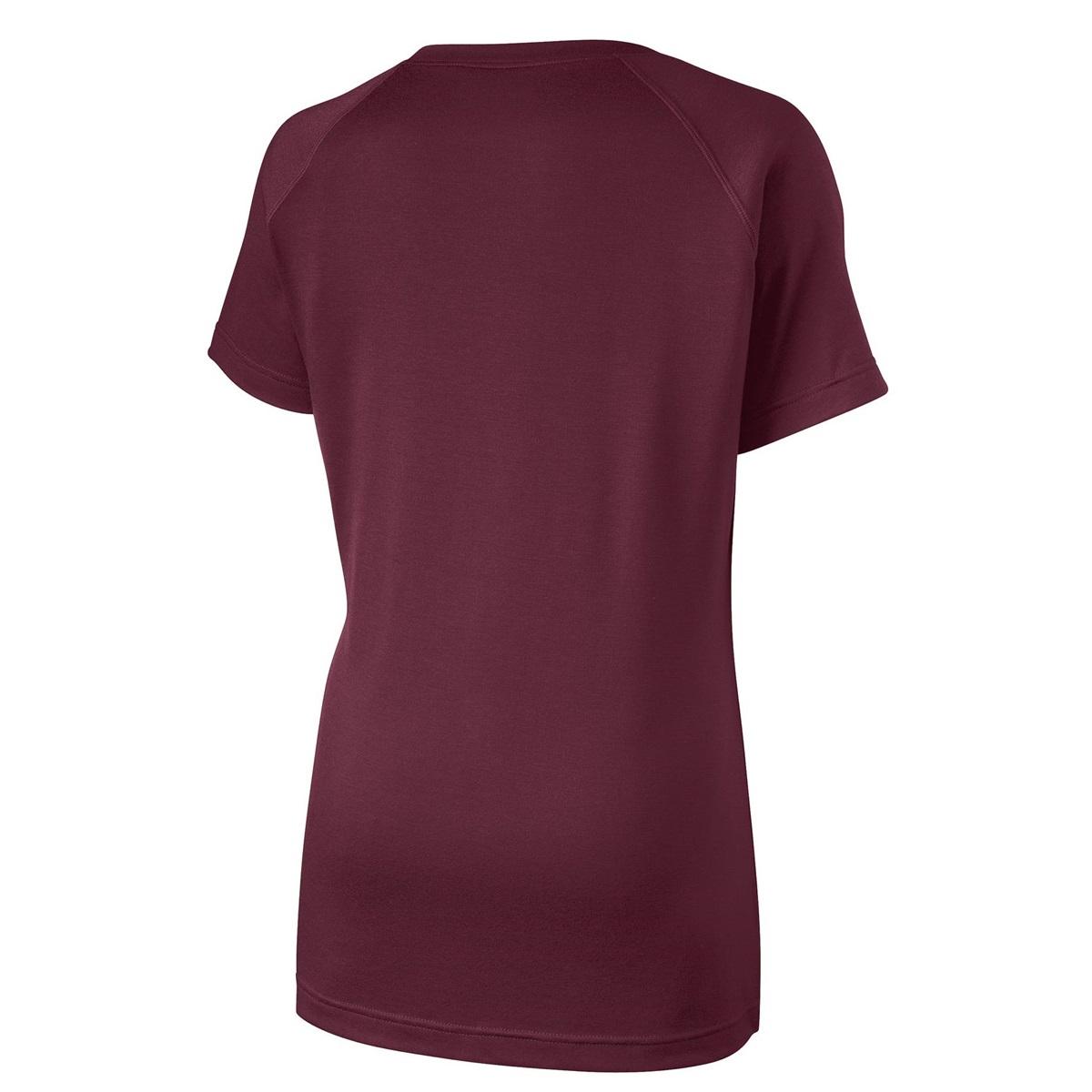 Cool Classic Womens Burgundy Long Sleeve Asymmetrical TShirt Dress