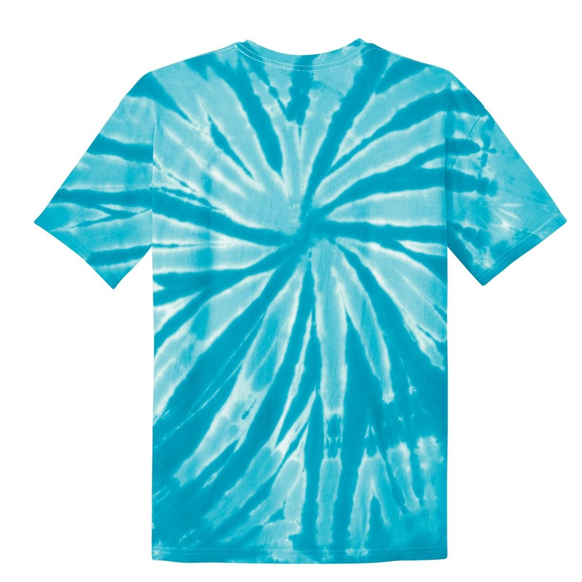 Port company pc147 essential tie dyed tee turquoise for Aqua blue color t shirt
